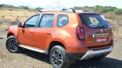 2016 Renault Duster facelift AMT rear three quarter Review