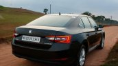 2016 Skoda Superb Laurin & Klement rear quarter First Drive Review