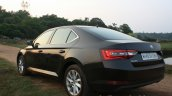 2016 Skoda Superb Laurin & Klement rear three quarter close First Drive Review