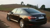 2016 Skoda Superb Laurin & Klement rear three quarter toe out First Drive Review