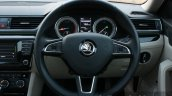 2016 Skoda Superb Laurin & Klement steering wheel First Drive Review