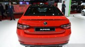 2016 Skoda Superb SportLine rear at 2016 Geneva Motor Show