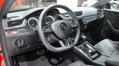 2016 Skoda Superb SportLine steering wheel at 2016 Geneva Motor Show