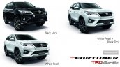 2016 Toyota Fortuner TRD Sportivo colours launched in Thailand