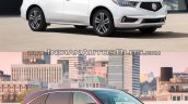 2017 Acura MDX vs. old Acura MDX front three quarters