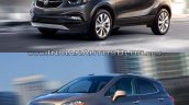 2017 Buick Encore vs. 2013 Buick Encore front three quarters