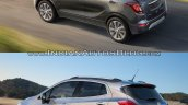 2017 Buick Encore vs. 2013 Buick Encore rear three quarters