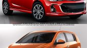2017 Chevrolet Sonic hatchback (facelift) old vs. new