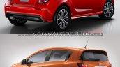 2017 Chevrolet Sonic hatchback old vs. new