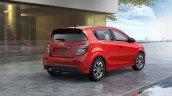 2017 Chevrolet Sonic hatchback rear three quarters