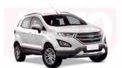 2017 Ford EcoSport (facelift) front three quarters rendering