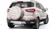 2017 Ford EcoSport (facelift) rear three quarters rendering