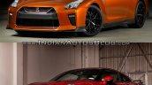 2017 Nissan GT-R vs 2015 Nissan GT-R front three quarters