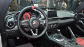 Abarth 124 Spider steering at the 2016 Geneva Motor Show Live