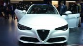 Alfa Romeo Giulia front white at the 2016 Geneva Motor Show Live