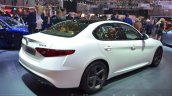 Alfa Romeo Giulia rear three quarter at the 2016 Geneva Motor Show Live