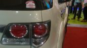 Armored Toyota Fortuner taillight DefExpo 2016