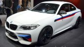 BMW M2 with M Performance Parts front quarter at 2016 Geneva Motor Show
