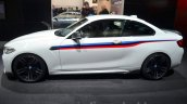 BMW M2 with M Performance Parts side at 2016 Geneva Motor Show