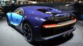 Bugatti Chiron rear left three quarter at the 2016 Geneva Motor Show