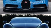 Bugatti Chiron vs. Bugatti Veyron front