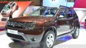 Dacia Duster Essential front three quarters left at the 2016 Geneva Motor Show