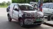 Fiat Mobi front spotted with less camouflage