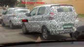Fiat Mobi rear spotted with less camouflage