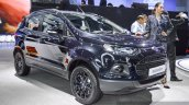 Ford EcoSport Black Edition front right three quarter at 2016 BIMS