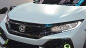 Honda Civic Hatchback Prototype LED headlamp and grille at the 2016 Geneva Motor Show