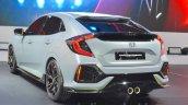 Honda Civic Hatchback Prototype rear three quarters at the 2016 Geneva Motor Show