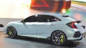 Honda Civic Hatchback Prototype rear three quarters view at the 2016 Geneva Motor Show