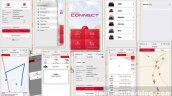Honda Drive To Discover 6 Honda Connect App interface screenshots