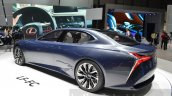 Lexus LF-FC concept rear three quarter at the 2016 Geneva Motor Show