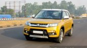 Maruti Vitara Brezza front quarter dynamic First Drive Review