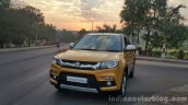 Maruti Vitara Brezza front quarter far First Drive Review