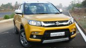 Maruti Vitara Brezza front quarter on road First Drive Review