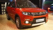 Maruti Vitara Brezza front quarter red launched