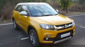 Maruti Vitara Brezza front quarter road First Drive Review