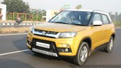 Maruti Vitara Brezza front three quarter dynamic First Drive Review