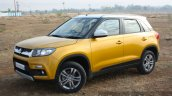Maruti Vitara Brezza front three quarter toe in First Drive Review
