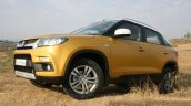 Maruti Vitara Brezza front three quarter uphill First Drive Review