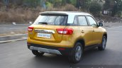 Maruti Vitara Brezza rear three quarter dynamic First Drive Review