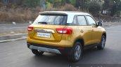 Maruti Vitara Brezza rear three quarter dynamic First Drive Review