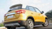 Maruti Vitara Brezza rear three quarter low First Drive Review