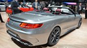 Mercedes-AMG S63 Cabriolet Edition 130 rear three quarters
