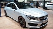 Mercedes CLA Shooting Brake with accessories front three quarter