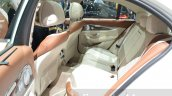 Mercedes E-Class E 350e rear seat at the 2016 Geneva Motor Show