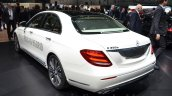 Mercedes E-Class E 350e rear three quarters at the 2016 Geneva Motor Show