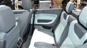 Range Rover Evoque Convertible rear seat at the 2016 Geneva Motor Show